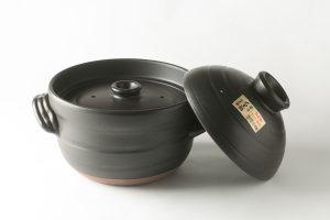 ふっくら炊飯鍋黒(大)6合用(中蓋付)
